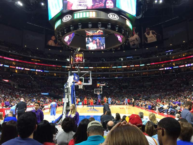 Seating view for Staples Center Section 115 Row G Seat 8