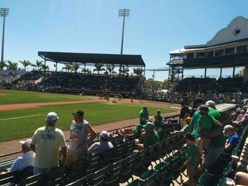 Seating view for McKechnie Field Section Box 11 Row 6 Seat 18