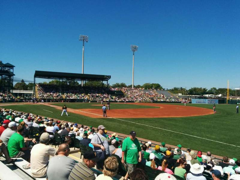 Seating view for McKechnie Field Section 18 Row 4 Seat 28