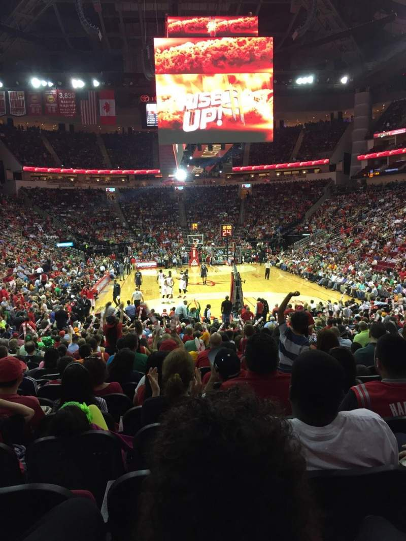 Seating view for Toyota Center Section 114 Row 15 Seat 5,6