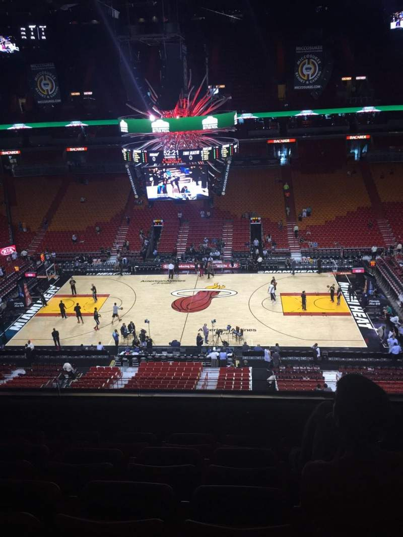 Seating view for American Airlines Arena Section 324 Row 5 Seat 7