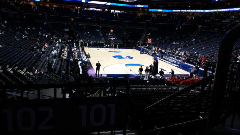 Seating view for Spectrum Center Section 102 Row T Seat 1