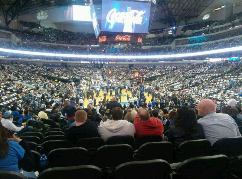 Seating view for American Airlines Center Section 113 Row p Seat 16