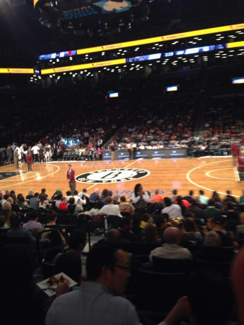 Seating view for Barclays Center Section 23 Row 9 Seat 11
