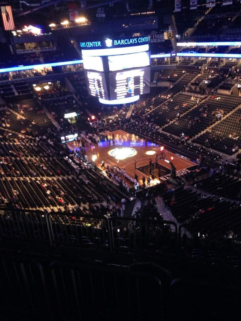 Seating view for Barclays Center Section 203 Row 10 Seat 17