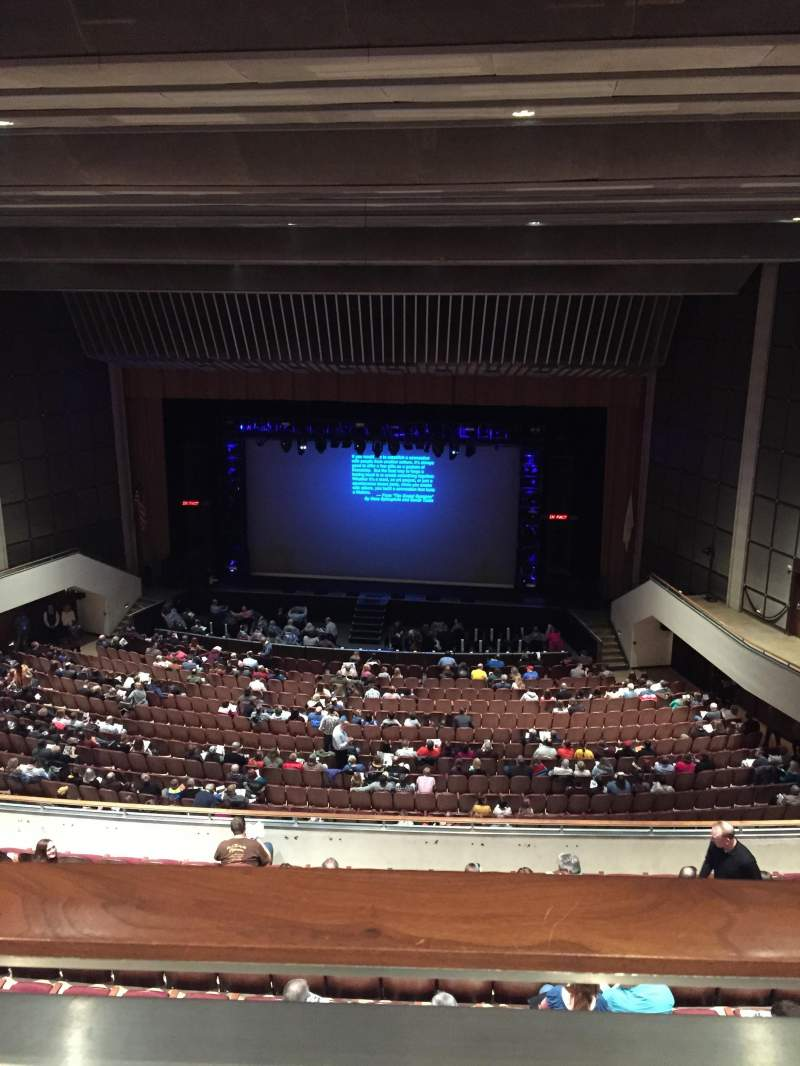 Seating view for Miller Auditorium Section Balcony Row 10 Seat 31