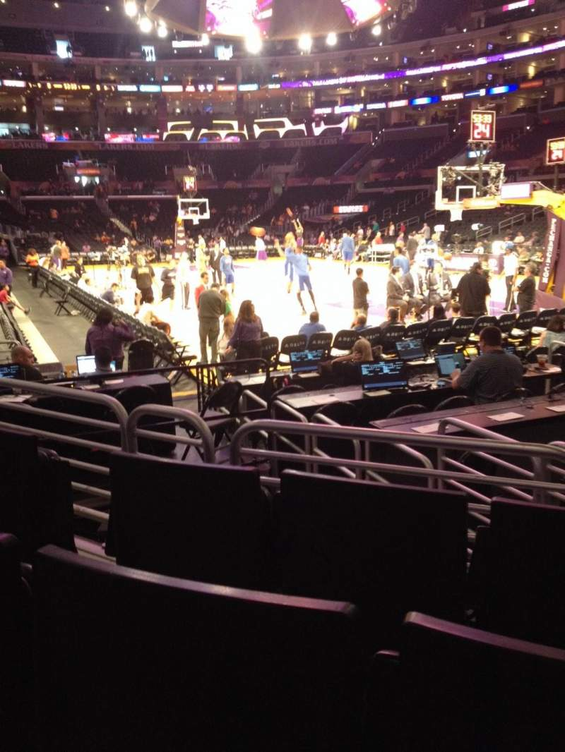 Seating view for Staples Center Section 108 Row 5 Seat 5
