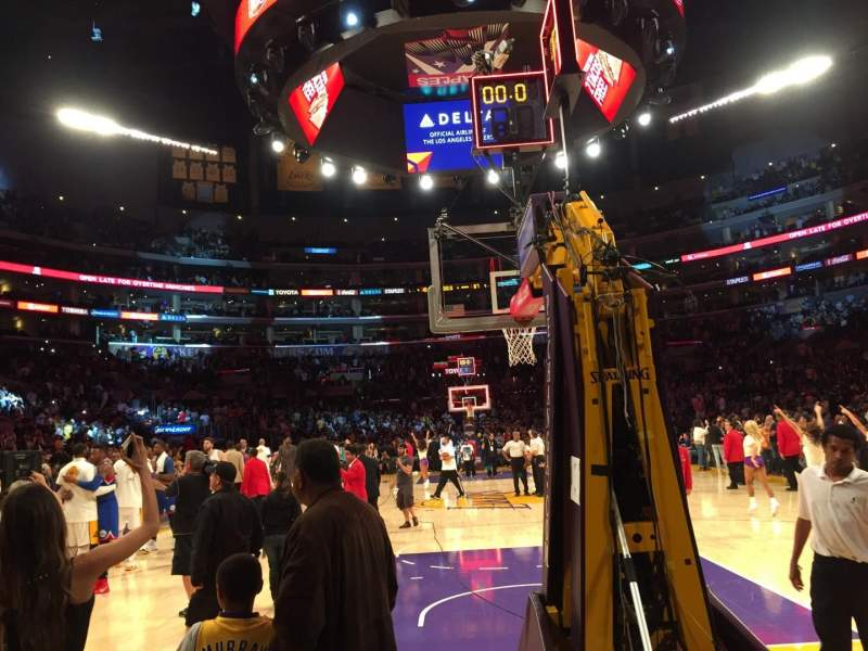 Seating view for Staples Center Section 116 Row A Seat 1