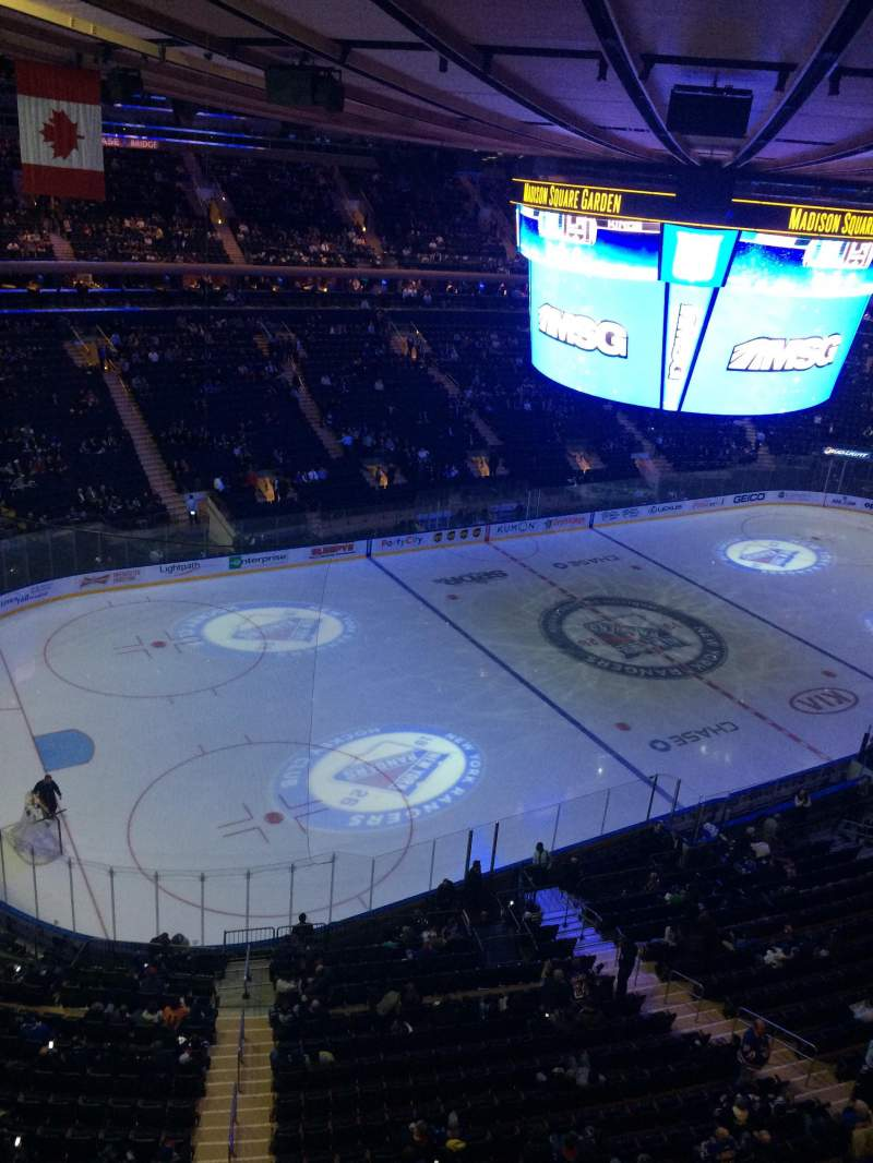 Madison Square Garden: Madison Square Garden, Section 310, Row 1, Home Of New