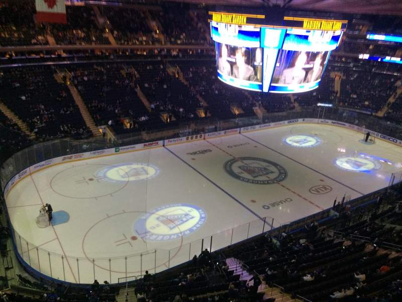 Madison Square Garden Section 310 Row 1 Seat 9 New York Rangers Vs Los Angeles Kings