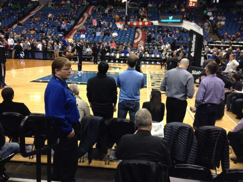 Seating view for Target Center Section 109 Row 4 Seat 15