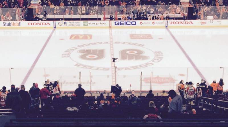 Seating view for Wells Fargo Center Section Club Box 13 Row 1 Seat 9