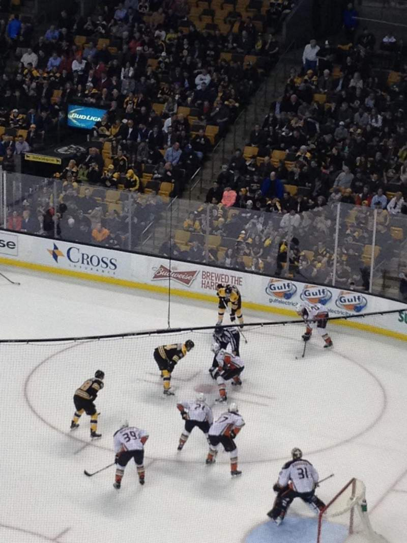 Seating view for TD Garden Section Bal 312 Row 1 Seat 10