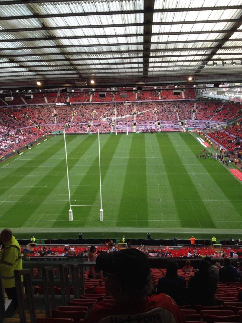 Seating view for Old Trafford Section W3104 Row 20 Seat 69