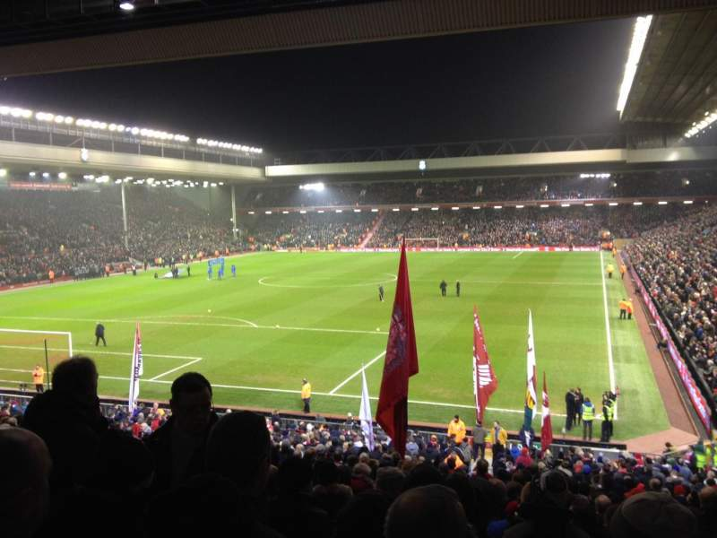 Seating view for Anfield Section 207 Row 38 Seat 36