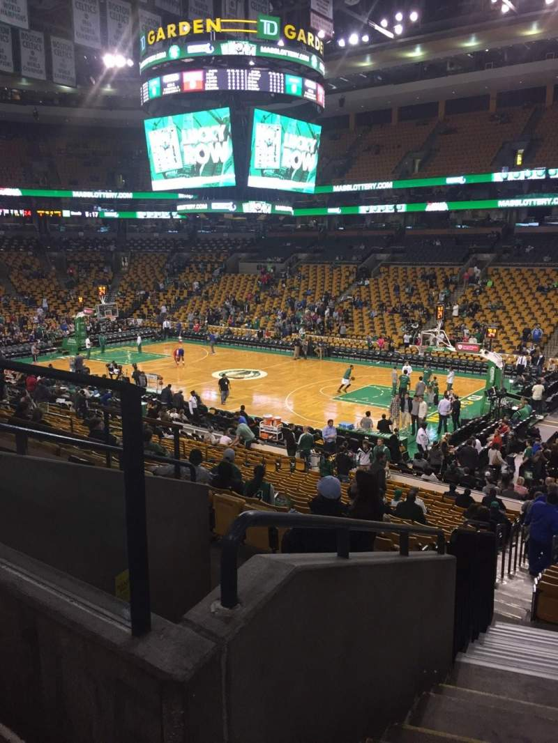 Seating view for TD Garden Section Loge 20 Row 22 Seat 29