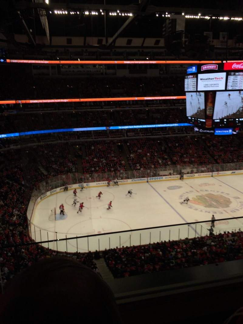 Seating view for United Center Section 303 Row 2  Seat 5