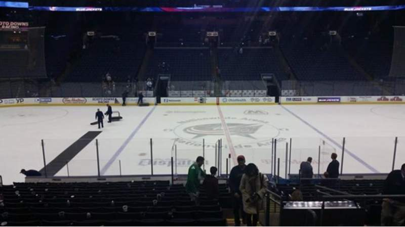 Seating view for Nationwide Arena Section 115 Row U Seat 3
