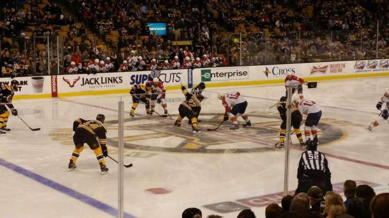 Seating view for TD Garden Section Loge 13 Row 10 Seat 18