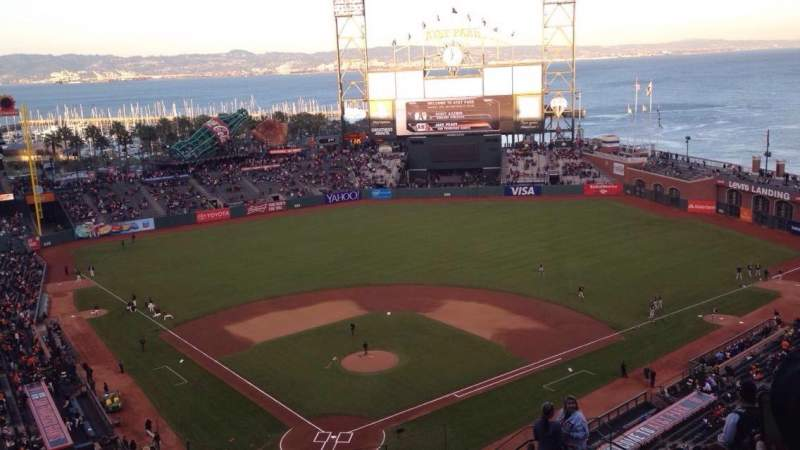 Seating view for AT&T Park Section VR314 Row 12 Seat 9