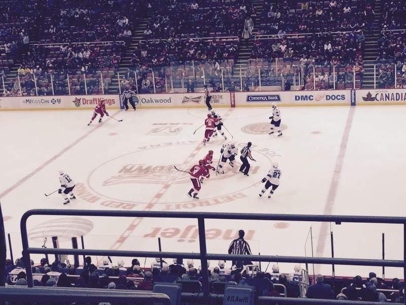 Seating view for Joe Louis Arena Section 220 Row 6 Seat 11