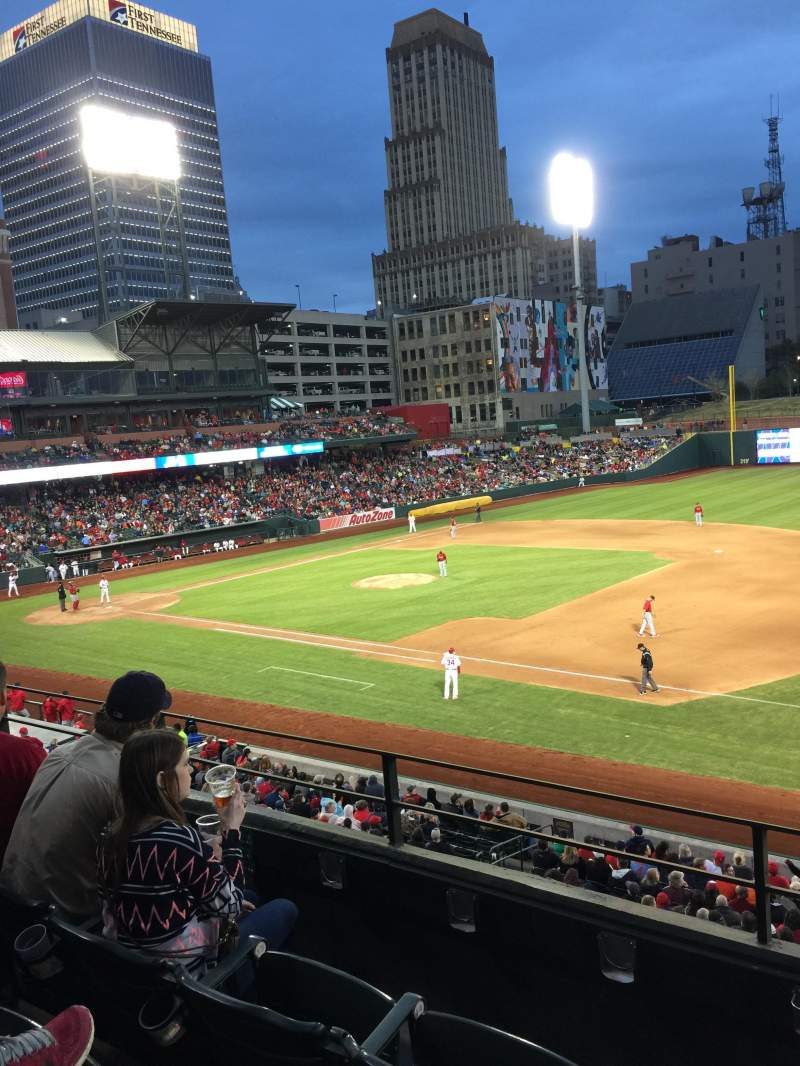 Seating view for AutoZone Park Section 213 Row C Seat 16