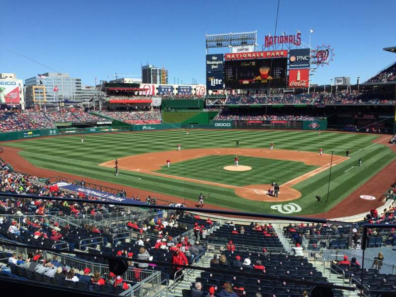 Seating view for Nationals Park Section 212 Row B Seat 10