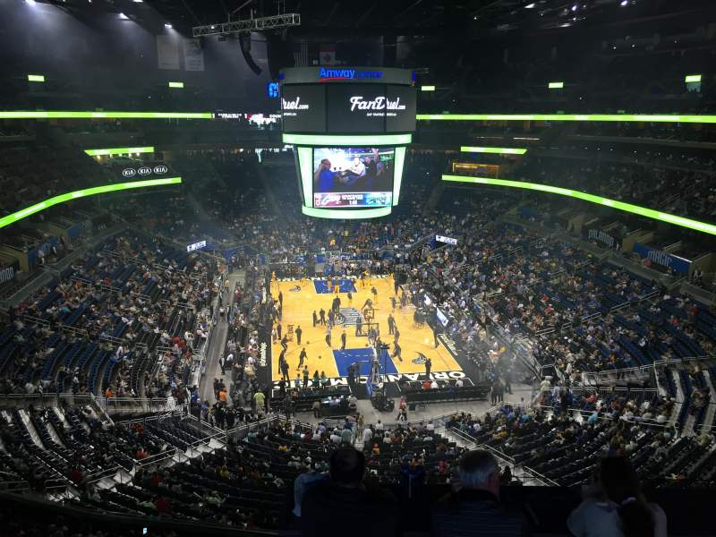 Seating view for Amway Center Section 218 Row 1 Seat 4