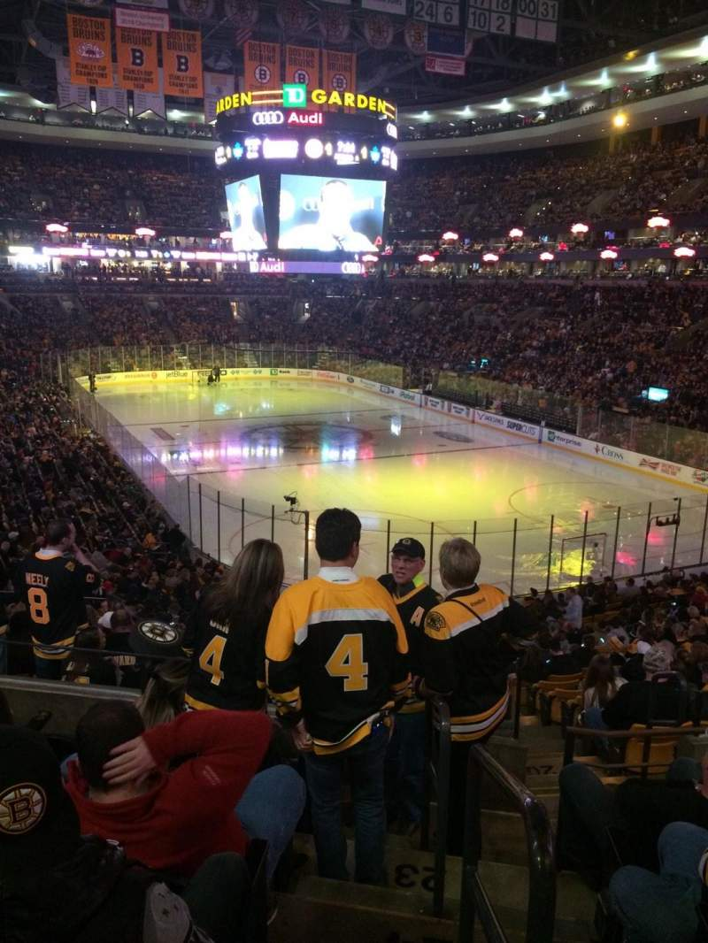 Seating view for TD Garden Section loge 8 Row 26 Seat 15