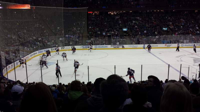 Seating view for Nationwide Arena Section 105 Row V Seat 14