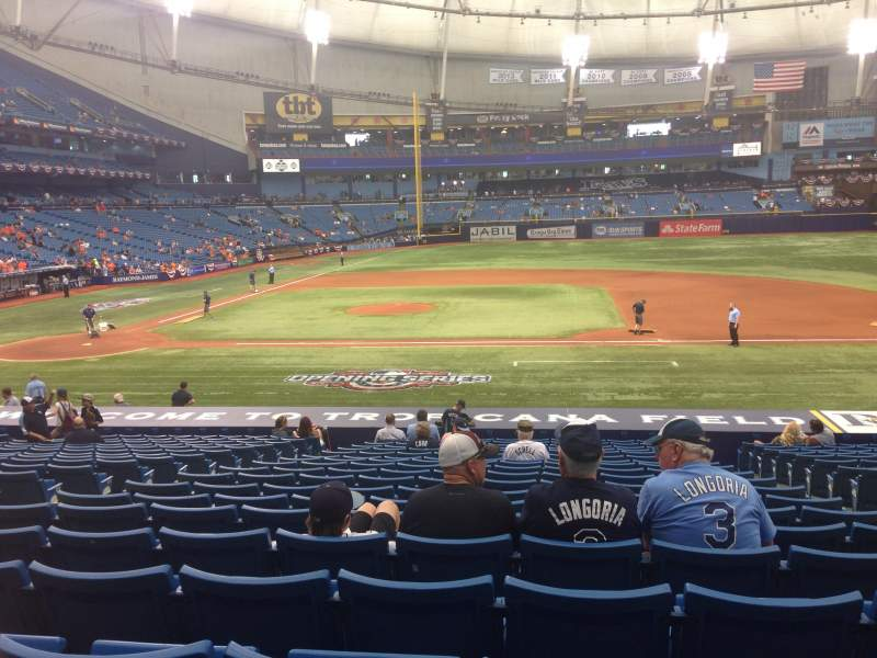 Seating view for Tropicana Field Section 114 Row DD Seat 7