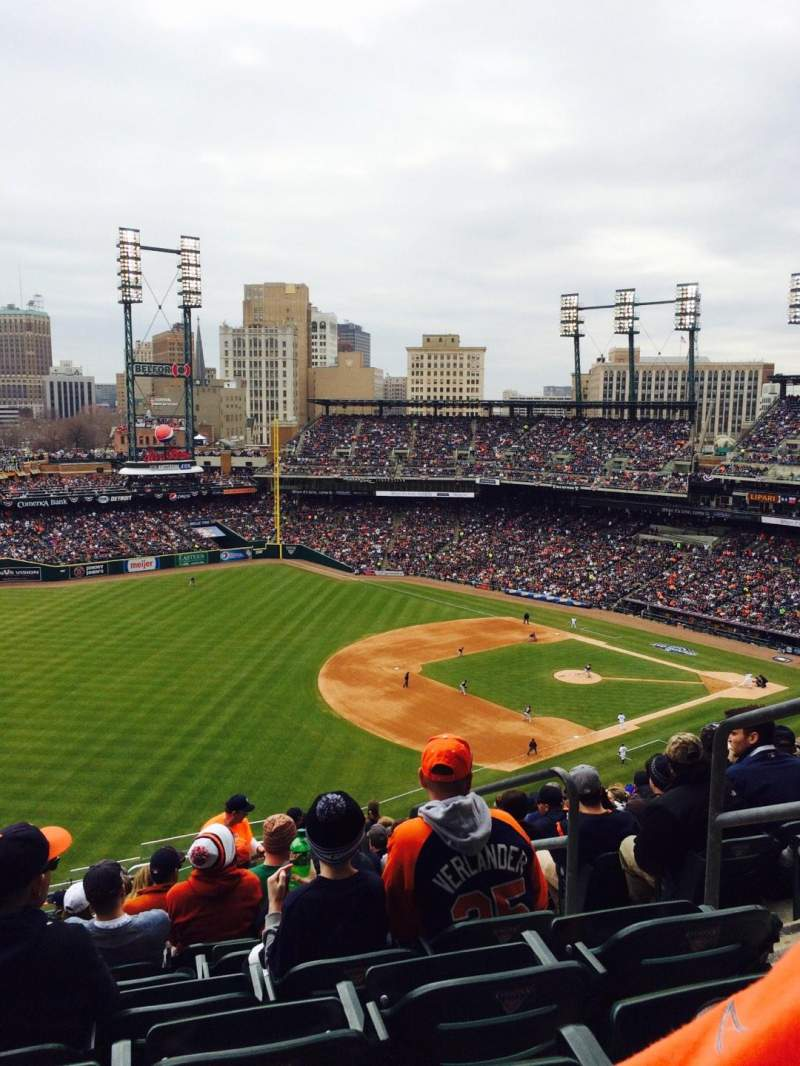 Seating view for Comerica Park Section 340 Row 17 Seat 4
