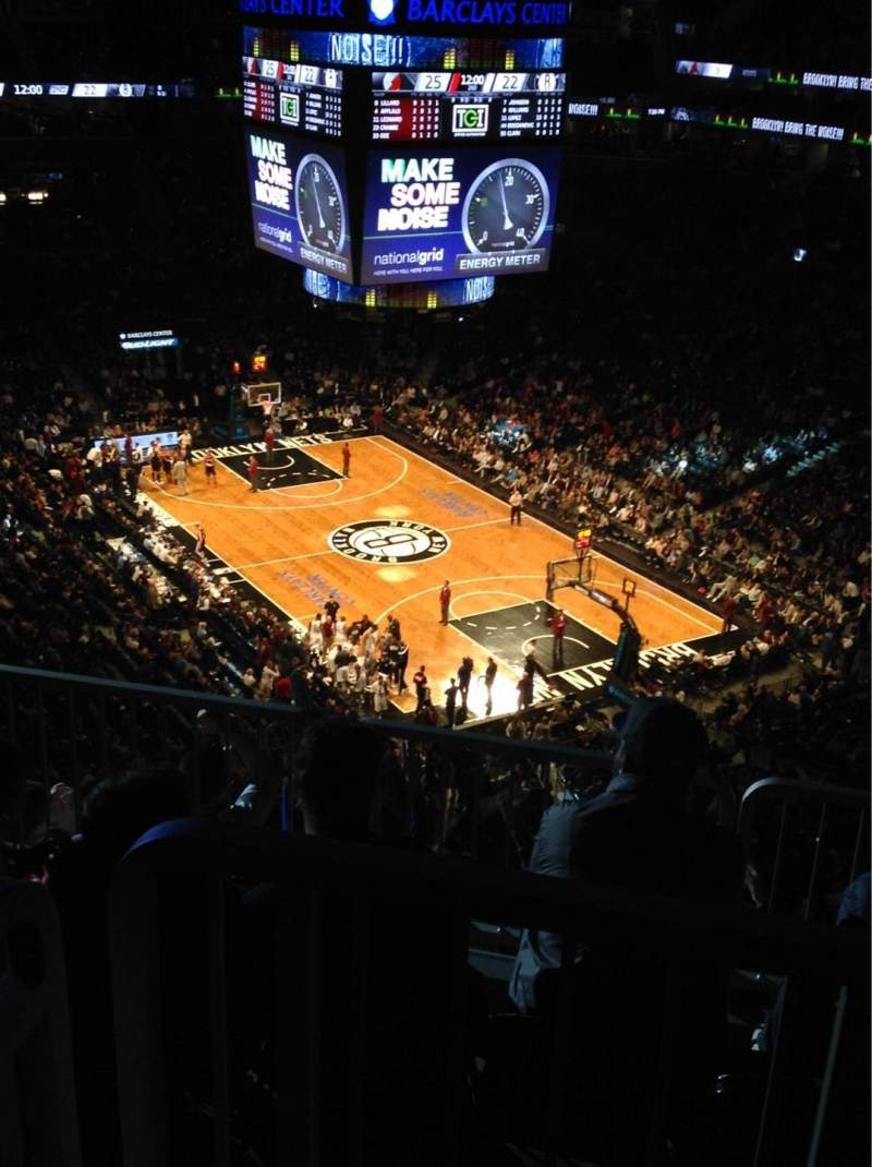 Seating view for Barclays Center Section 203 Row 11 Seat 5