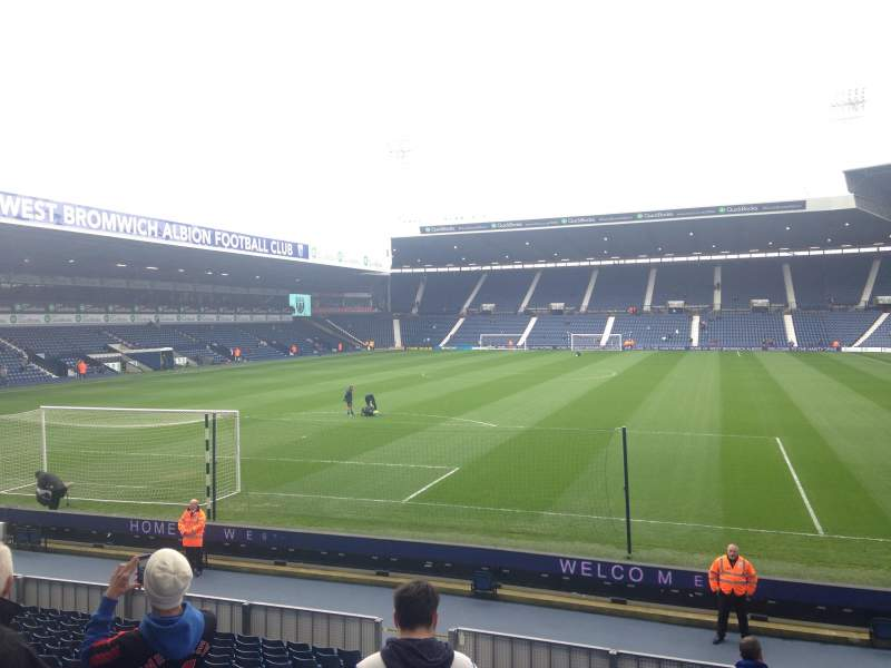 Seating view for The Hawthorns Section Away end Row W