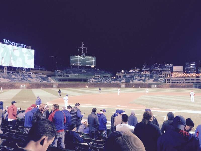 Seating view for Wrigley Field Section 14 Row 9 Seat 103