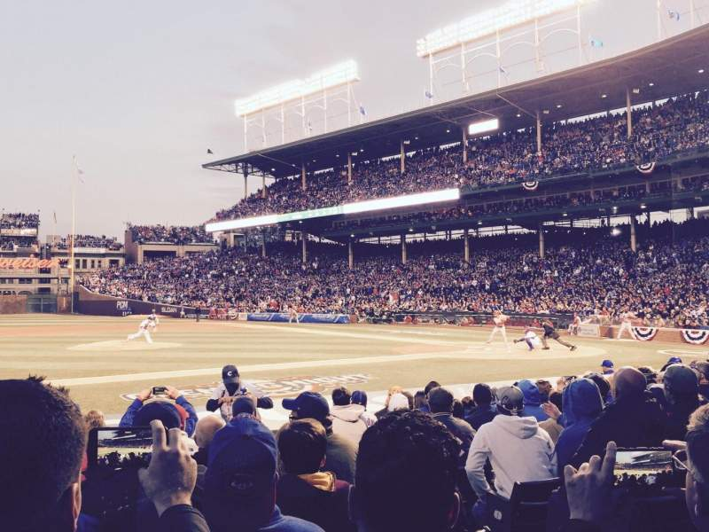 Seating view for Wrigley Field Section 14 Row 9 Seat 104
