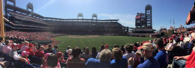 Seating view for Citizens Bank Park Section 106 Row 6 Seat 4