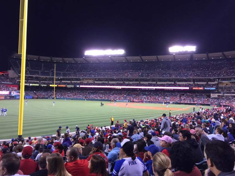 Seating view for Angel Stadium Section 108 Row X Seat 10