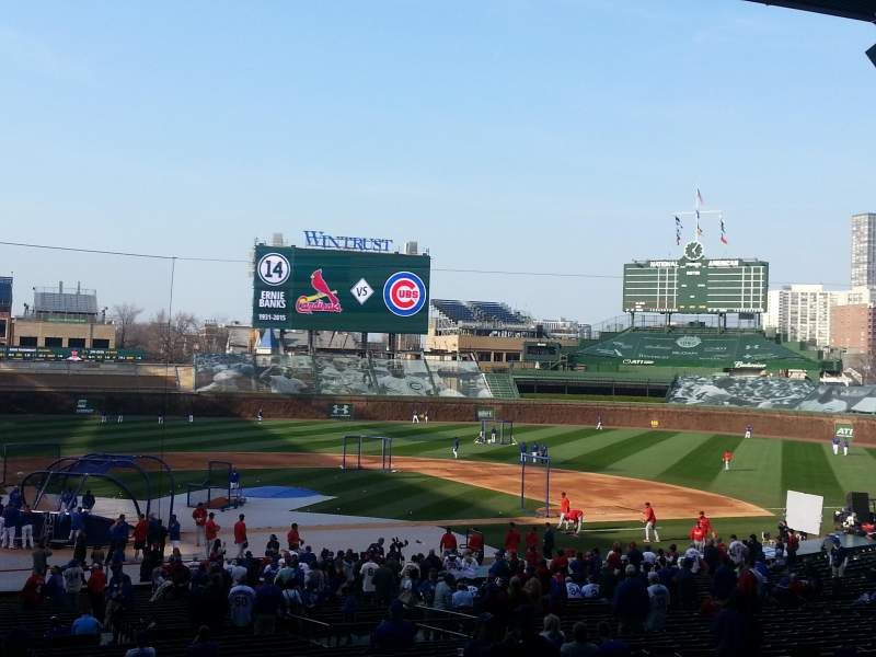 Seating view for Wrigley Field Section 224 Row 8