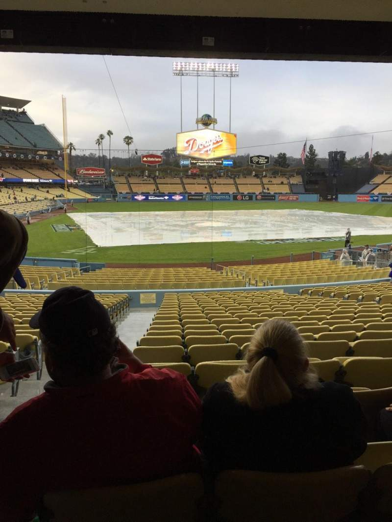 Seating view for Dodger Stadium Section 8FD Row W Seat 1
