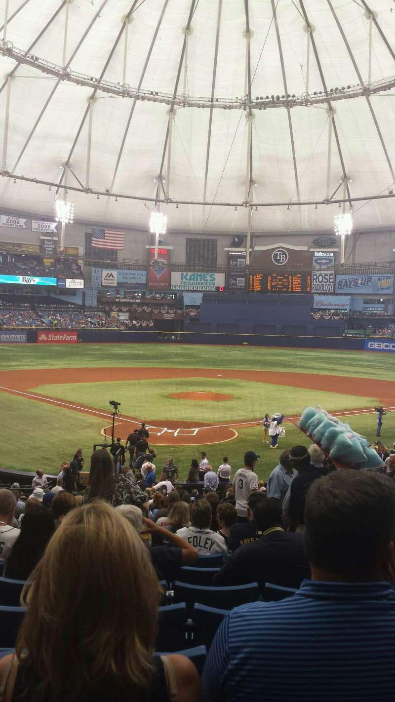 Seating view for Tropicana Field Section 102 Row HH Seat 11