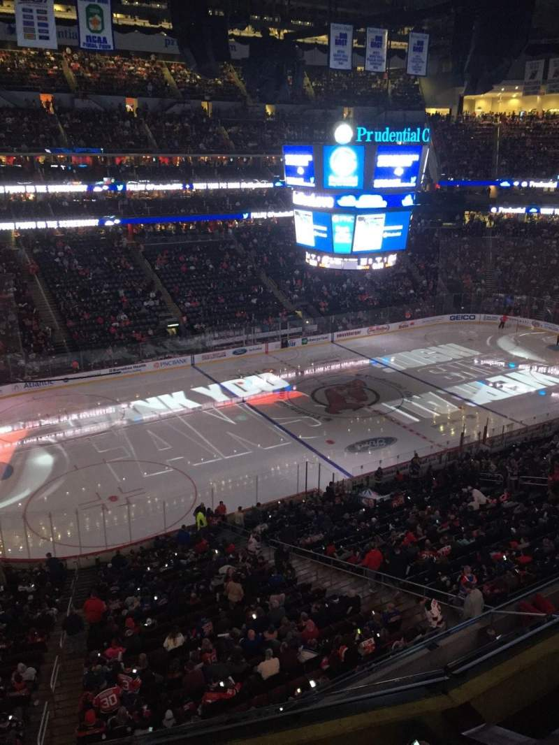 Seating view for Prudential Center Section 109 Row 1 Seat 17