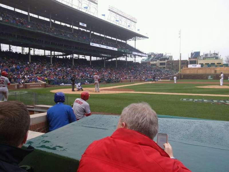 Seating view for Wrigley Field Section 27 Row 2 Seat 105