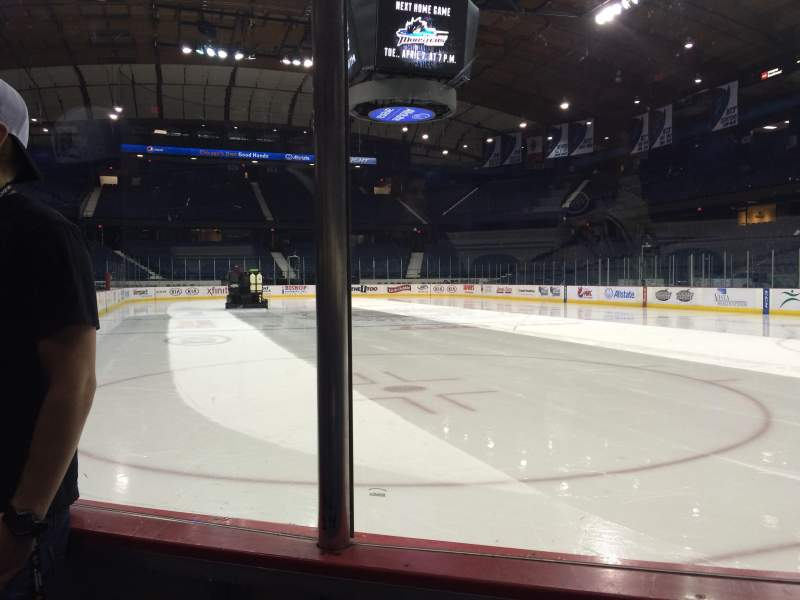 Seating view for Allstate Arena Section 107 Row BB Seat 14
