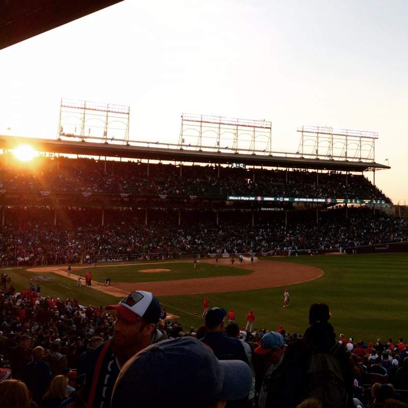Seating view for Wrigley Field Section 240 Row 17 Seat 1