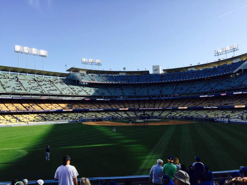 Seating view for Dodger Stadium Section 313PL Row L Seat 7