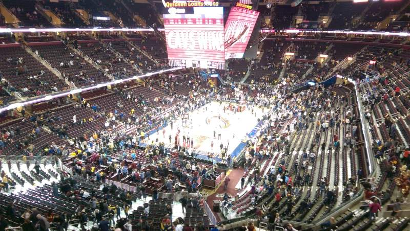 Seating view for Quicken Loans Arena Section 219 Row 1 Seat 15
