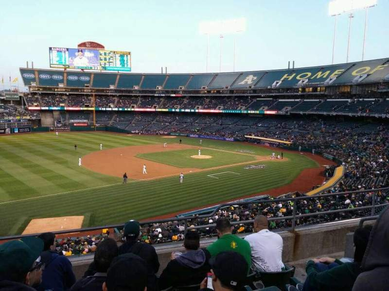 Seating view for Oakland Alameda Coliseum Section 226 Row 6 Seat 9
