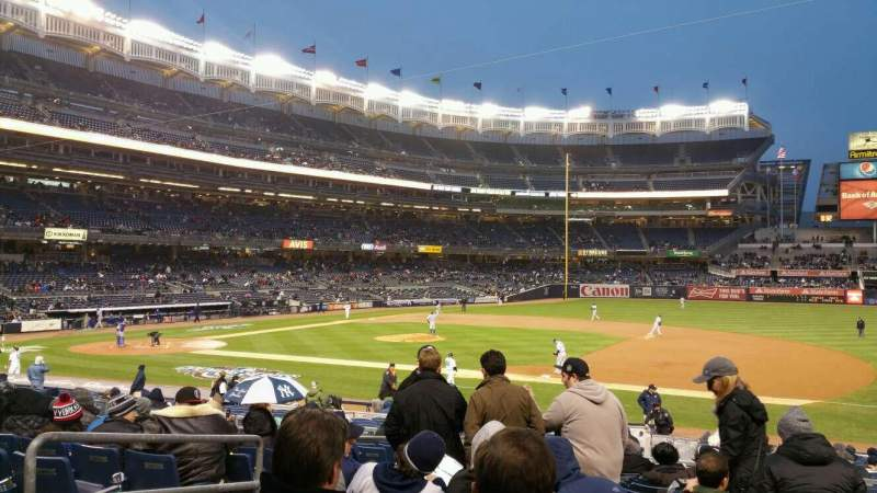 Seating view for Yankee Stadium Section 114B Row 23 Seat 12