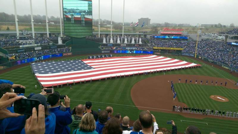 Seating view for Kauffman Stadium Section 410 Row G Seat 8